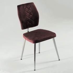 Vals Kumaş Döşeme Mutfak Sandalyesi - Kahve
