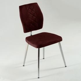 Vals Kumaş Döşeme Mutfak Sandalyesi - Kırmızı